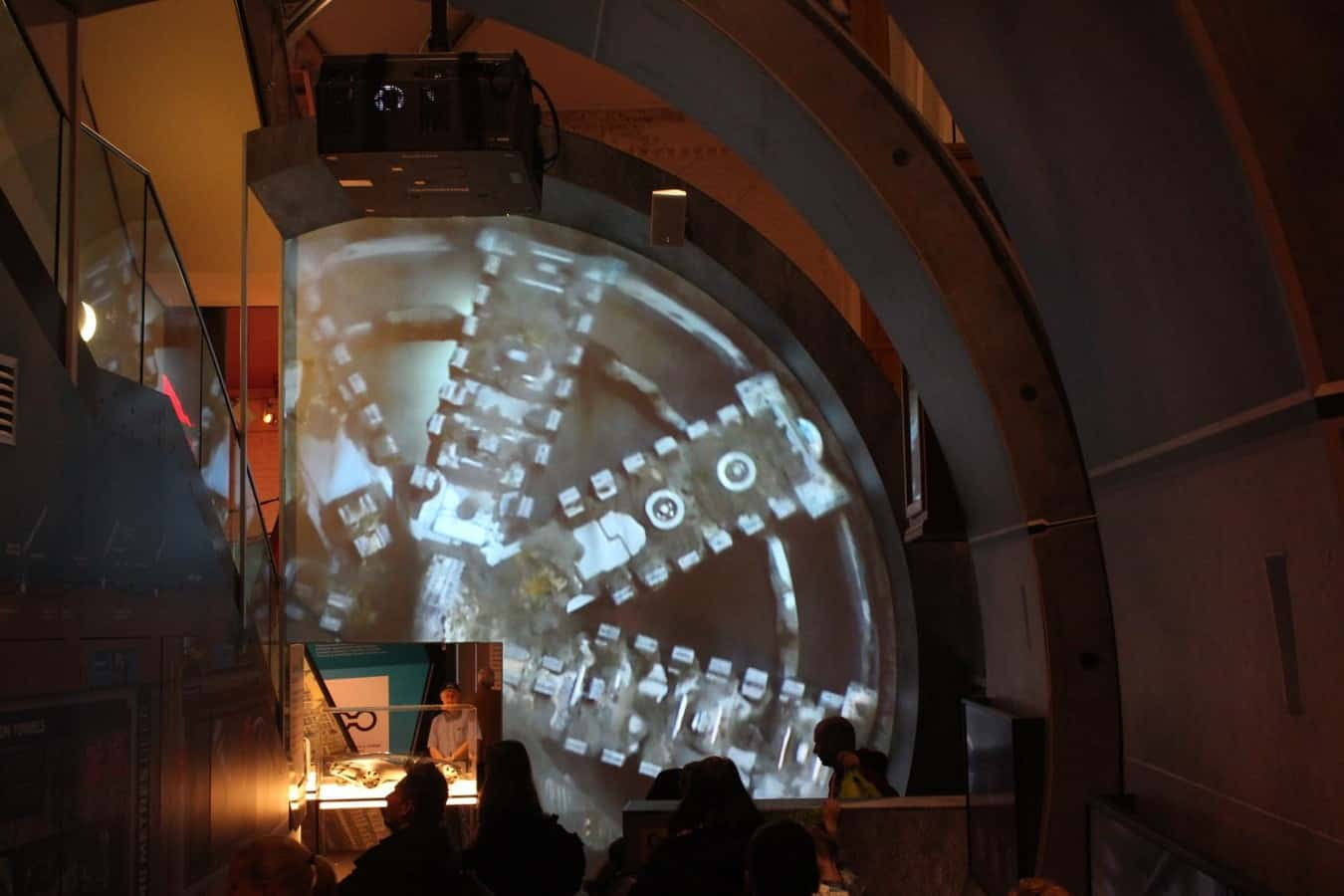 Projection Mapping Video Projector Hire Crossrail Tunnel London Transport Museum