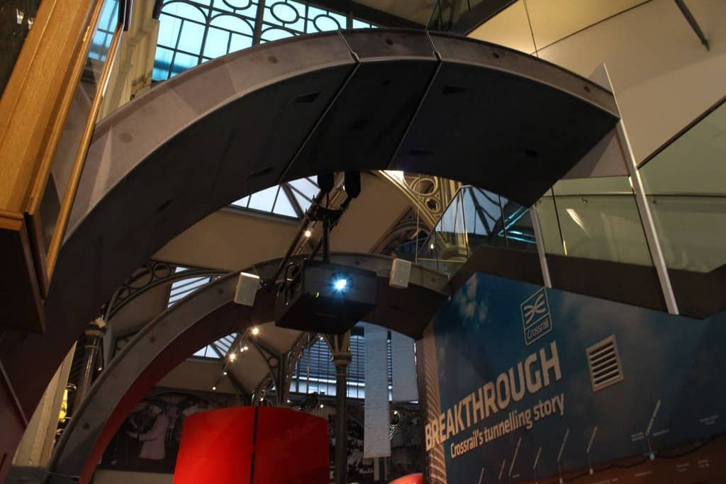 Crossrail install london transport museum 3 Vortex Events