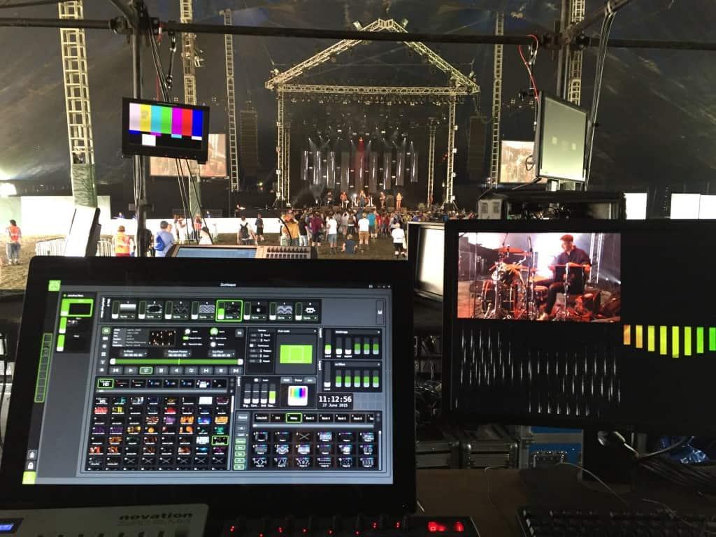 Glastonbury 2015 john peel stage foh karst led screen stealth Vortex Events