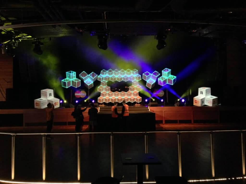 Brit awards after party projection mapping Vortex Events