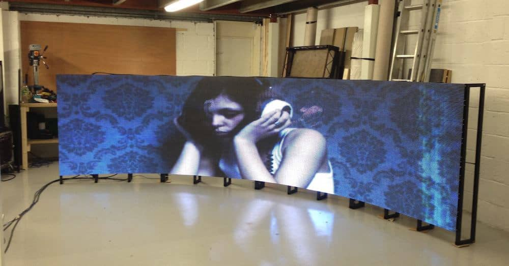 Curved LED screen install 10mm vortex events 1 Vortex Events