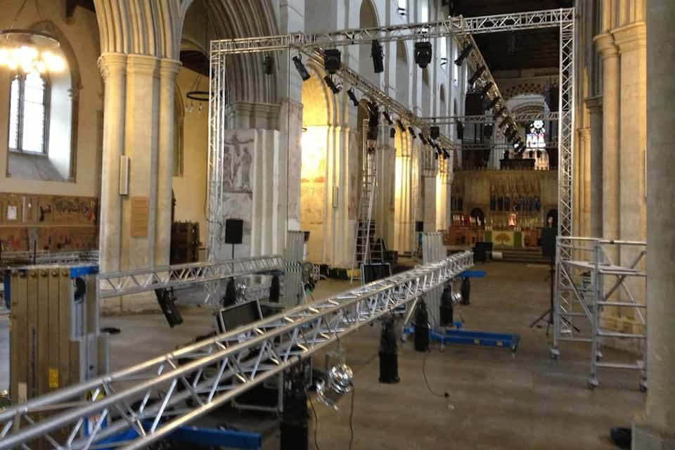 st.albans fashion week show truss lighting full size Vortex Events