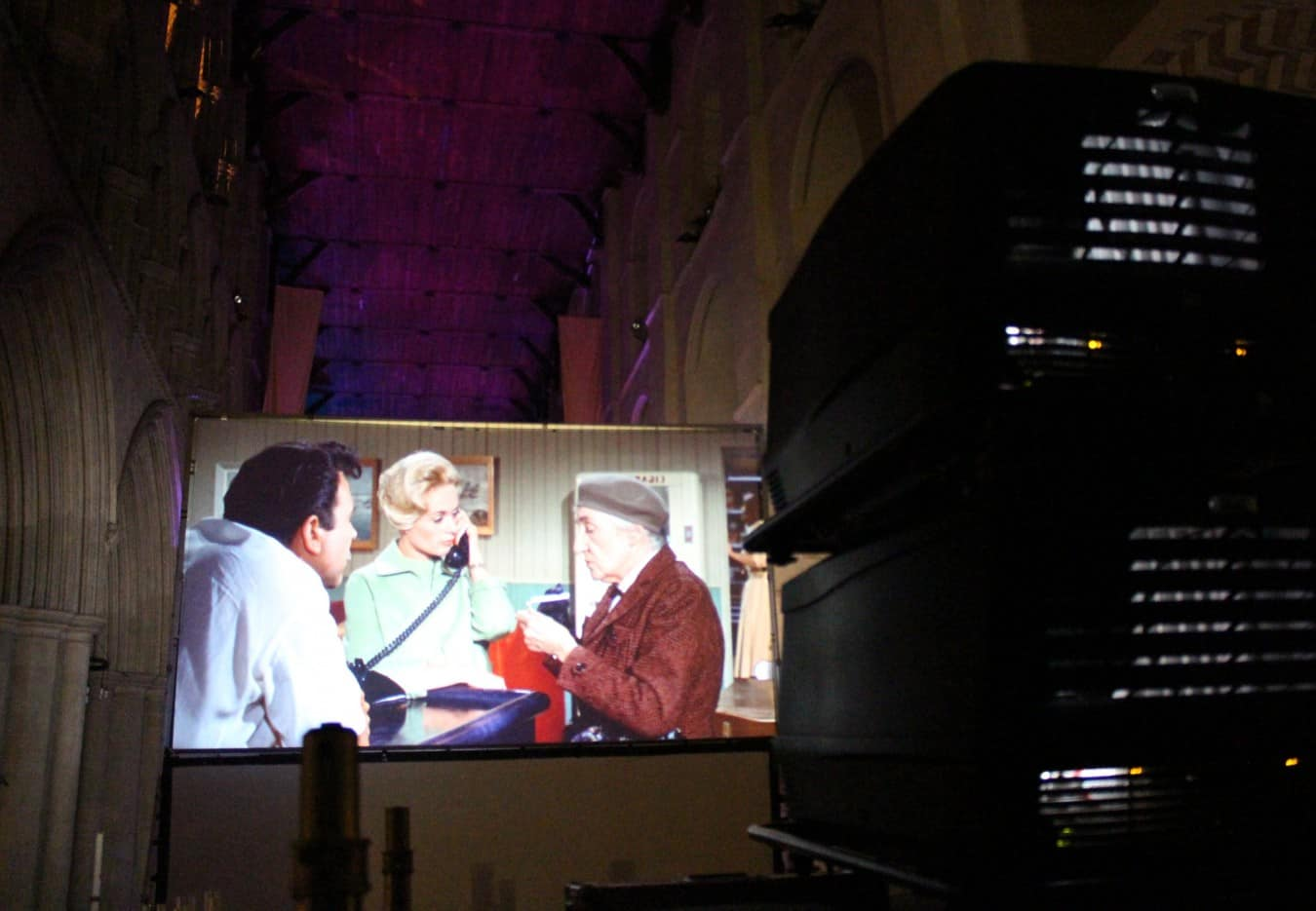 Projector Hire Video Screen Barco Film Festival St Albans Cathedral