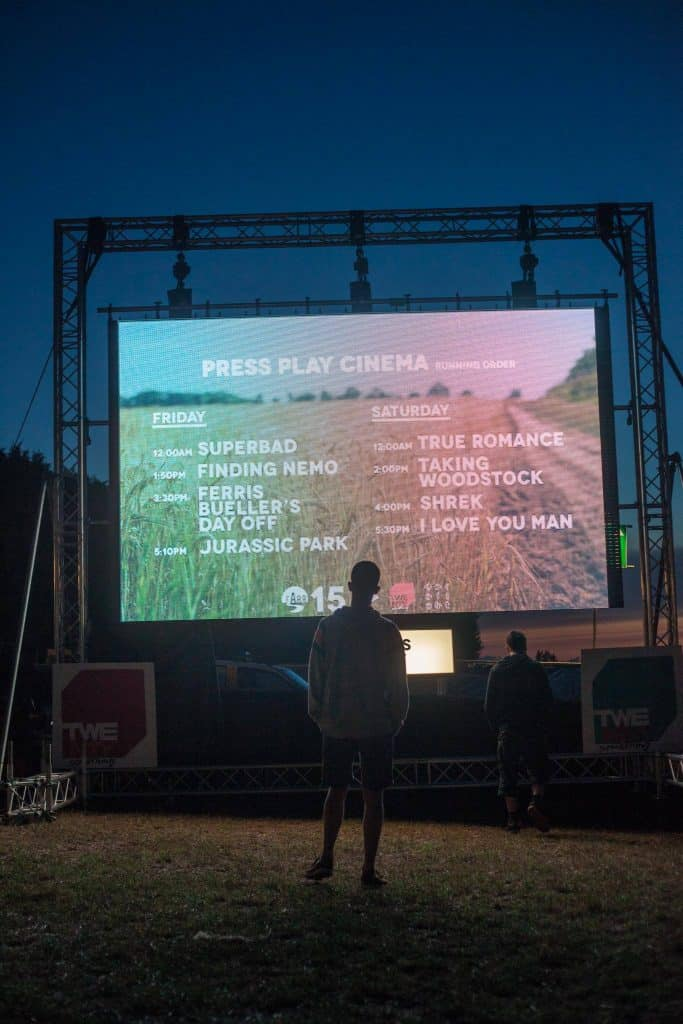 Farr Festival 2015 LED Screen Cinama