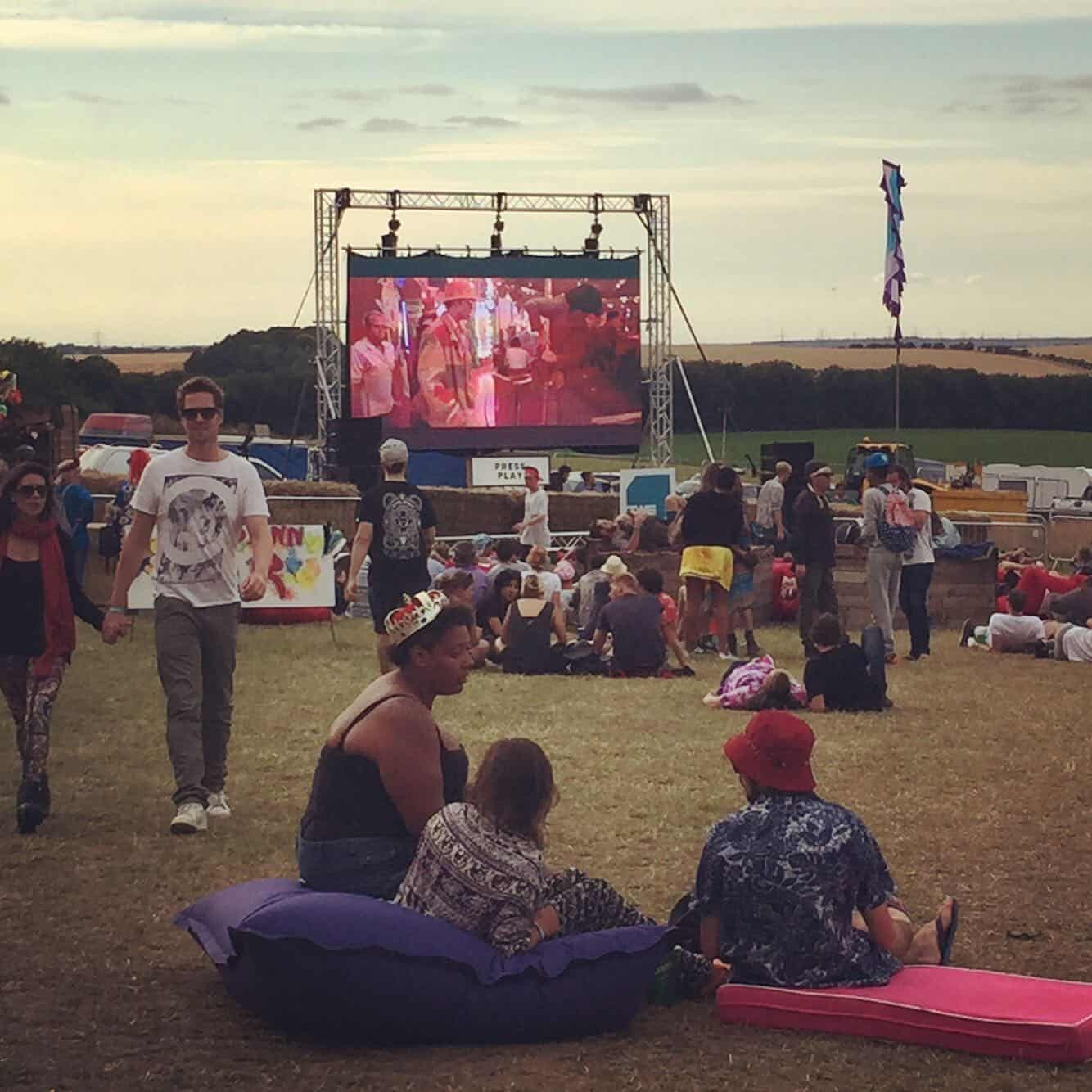Farr Festival 2015 Outdoor Cinema LED Screen Video Hire Films