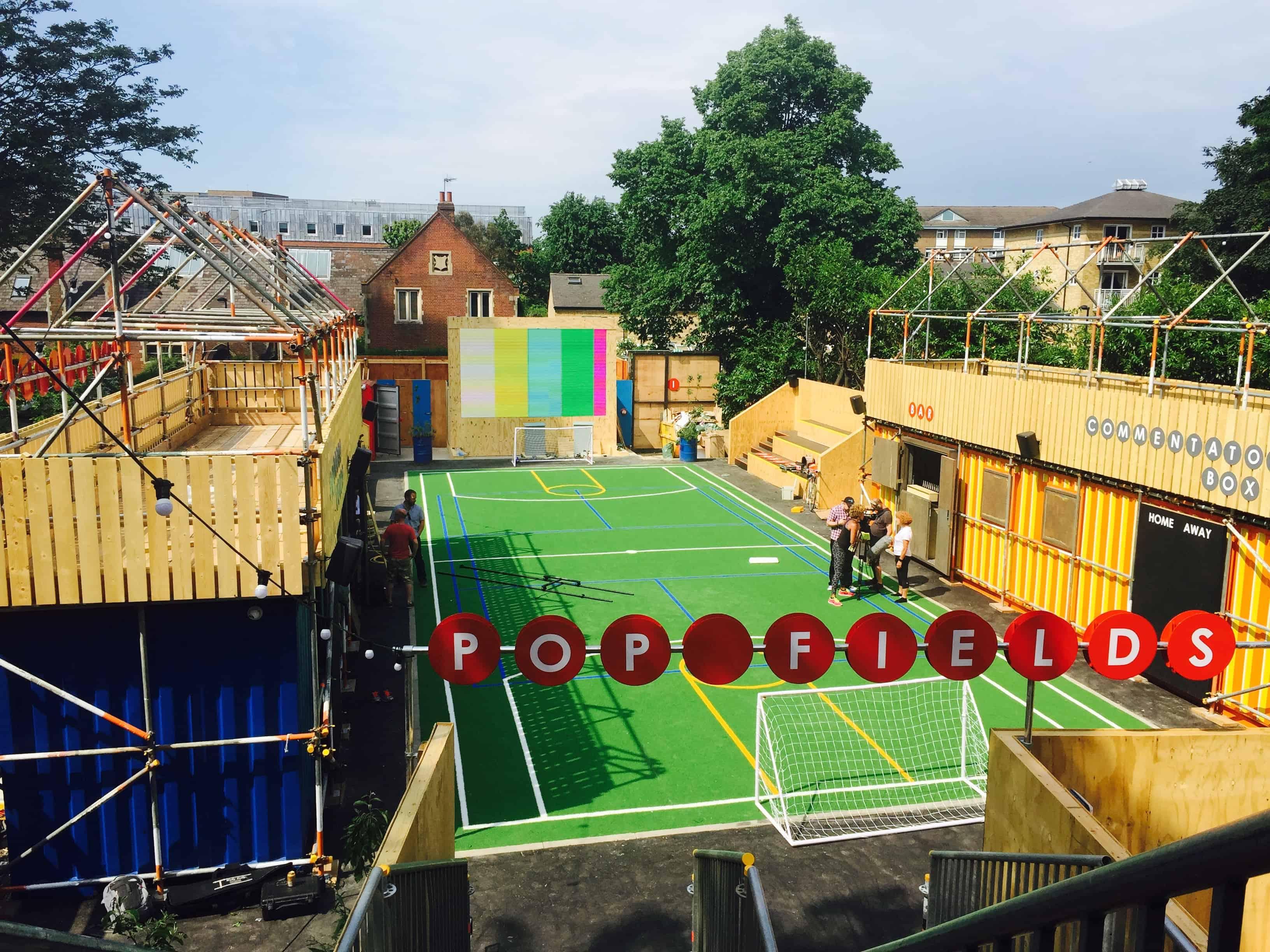 outdoor led screen hire London Pop Brixton video screen Installs vortex events