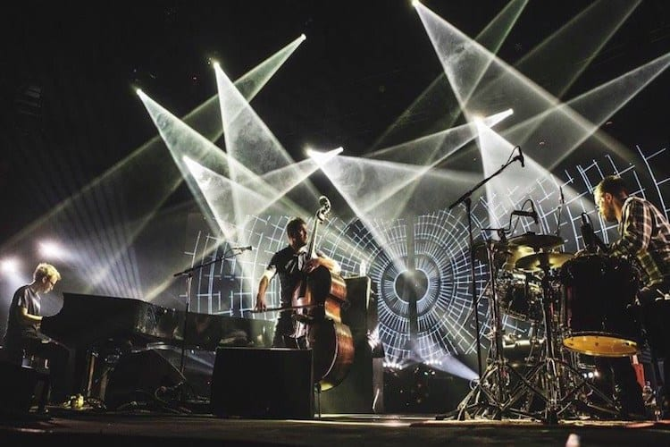 GoGo Penguin roundhouse projector hire 2 Vortex Events