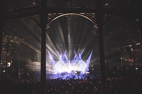 GoGo Penguin roundhouse projector hire 3 Vortex Events