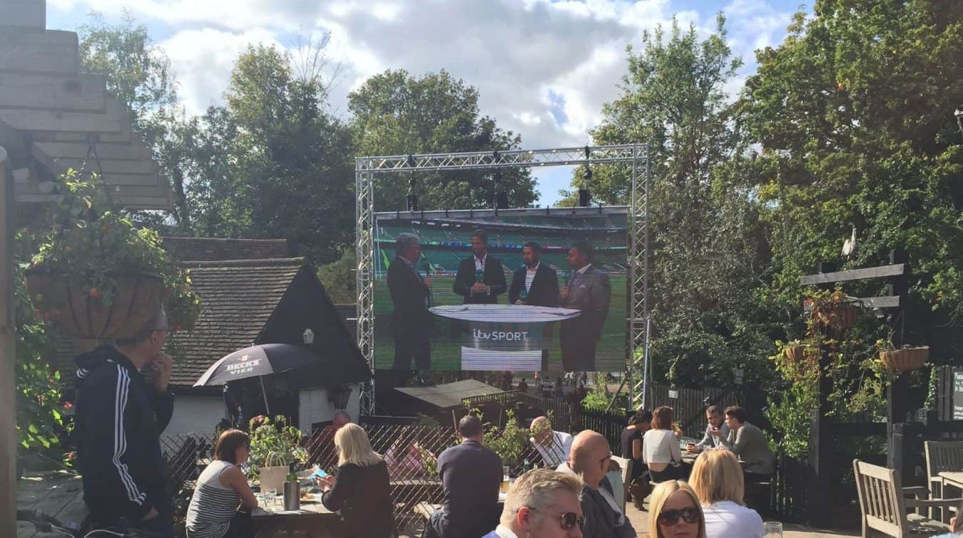 World Cup LED Screen hire Pub